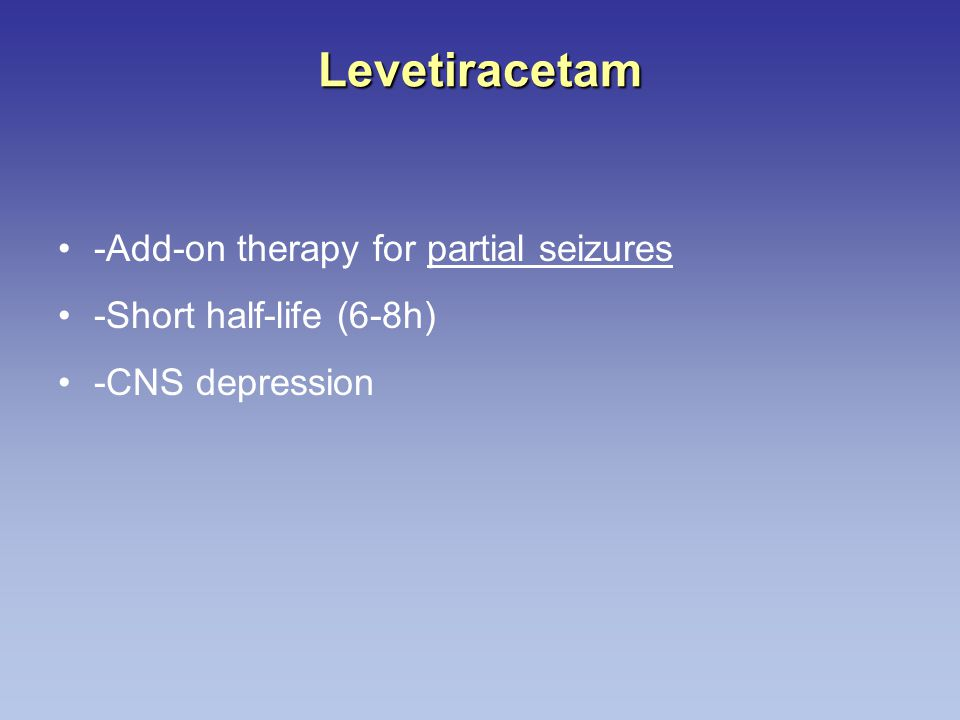 Levetiracetam -Add-on therapy for partial seizures