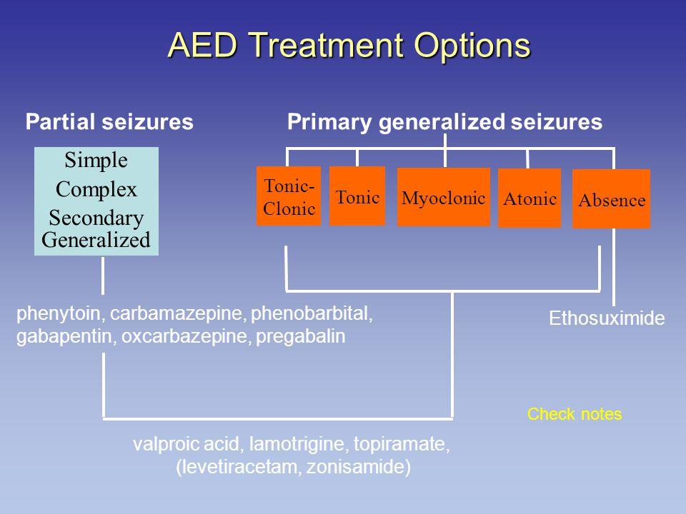 Primary generalized seizures