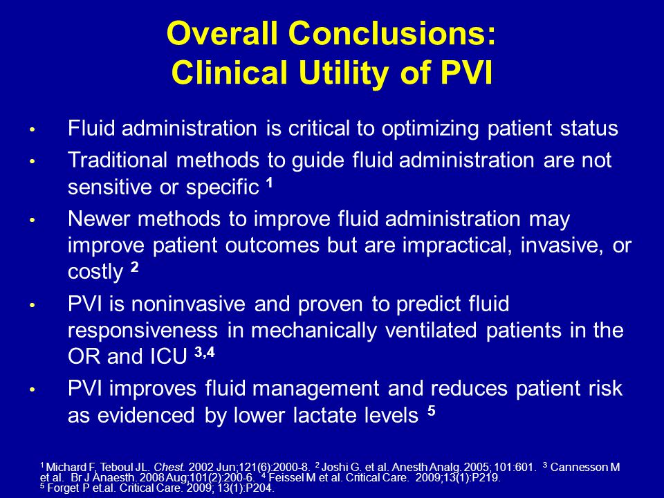 Overall Conclusions: Clinical Utility of PVI