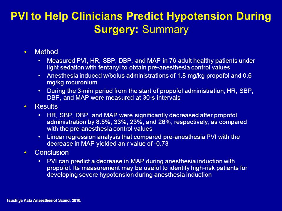 PVI to Help Clinicians Predict Hypotension During Surgery: Summary