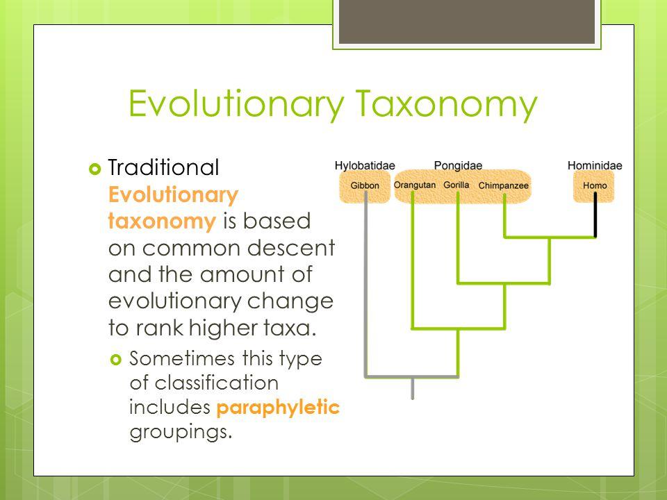 Evolutionary Taxonomy
