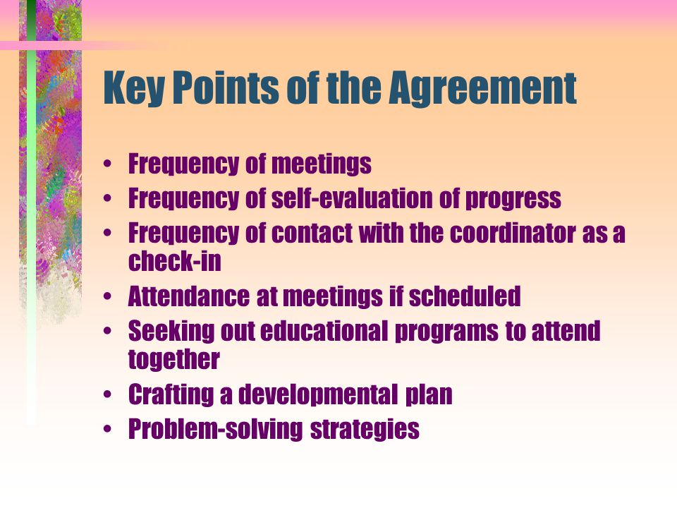 Key Points of the Agreement