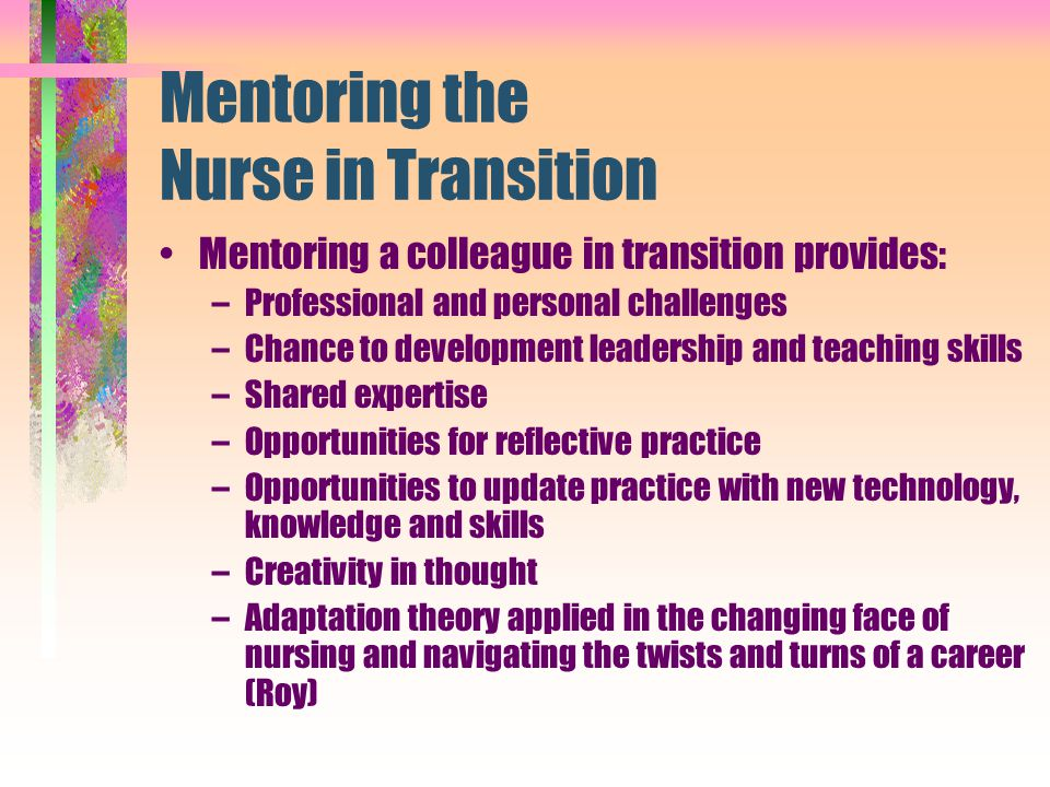 Mentoring the Nurse in Transition