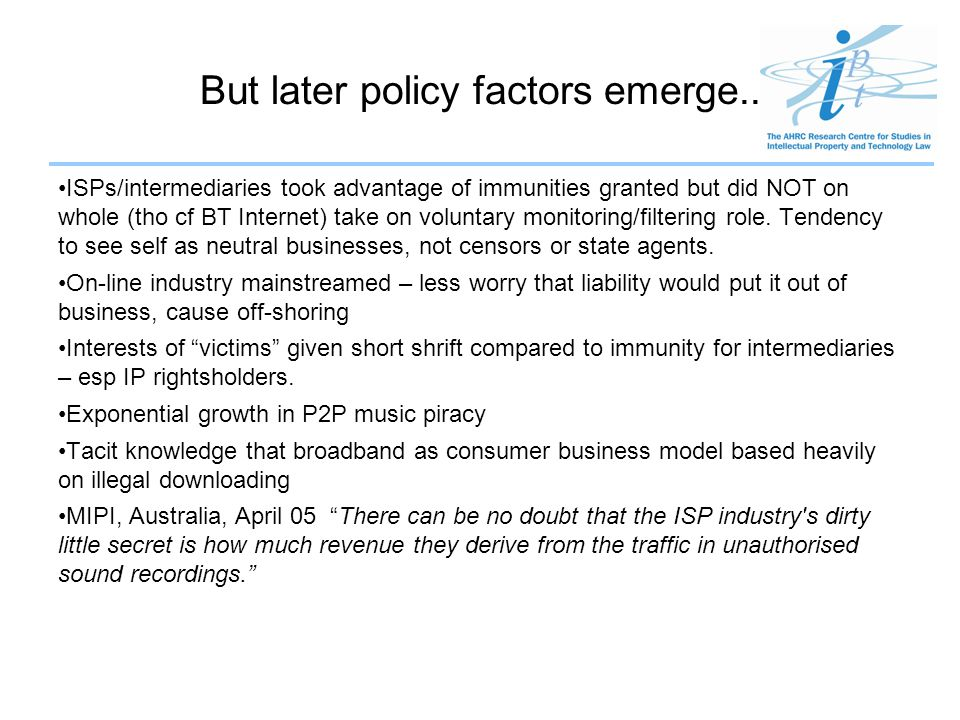 But later policy factors emerge..