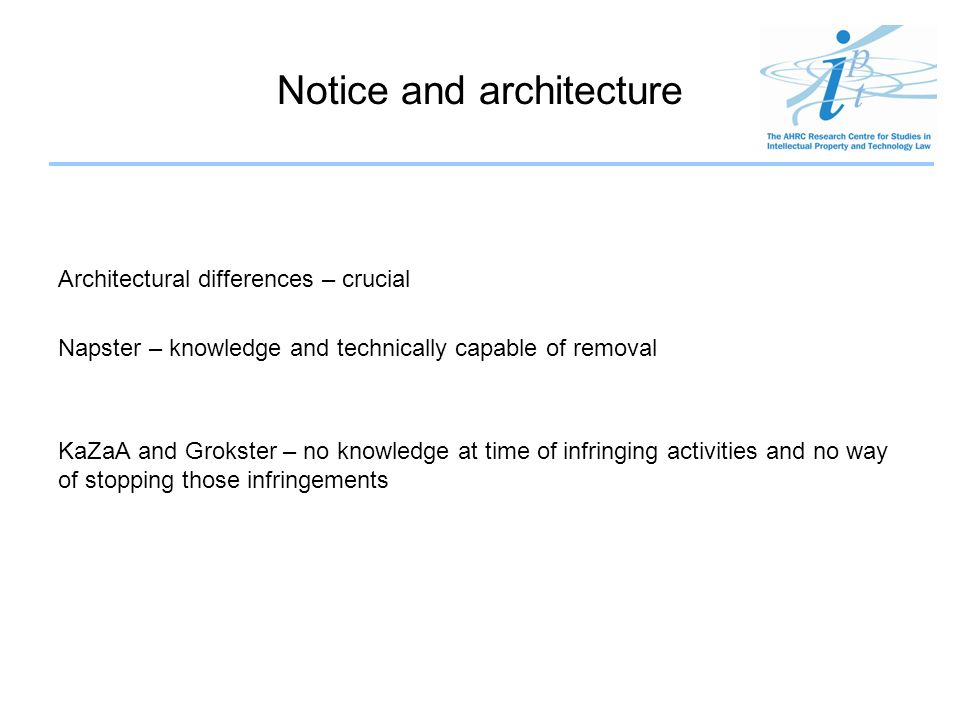 Notice and architecture