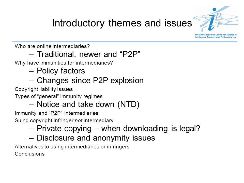 Introductory themes and issues