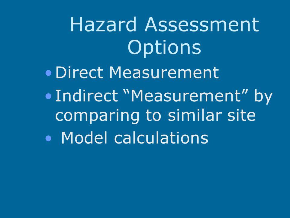 Hazard Assessment Options