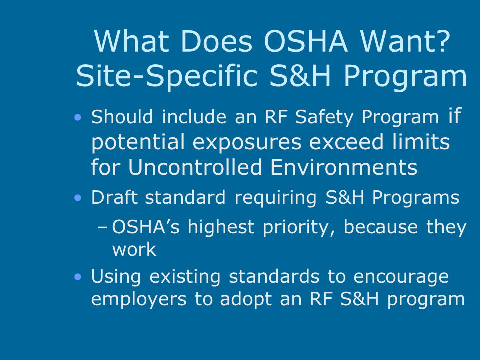 What Does OSHA Want Site-Specific S&H Program