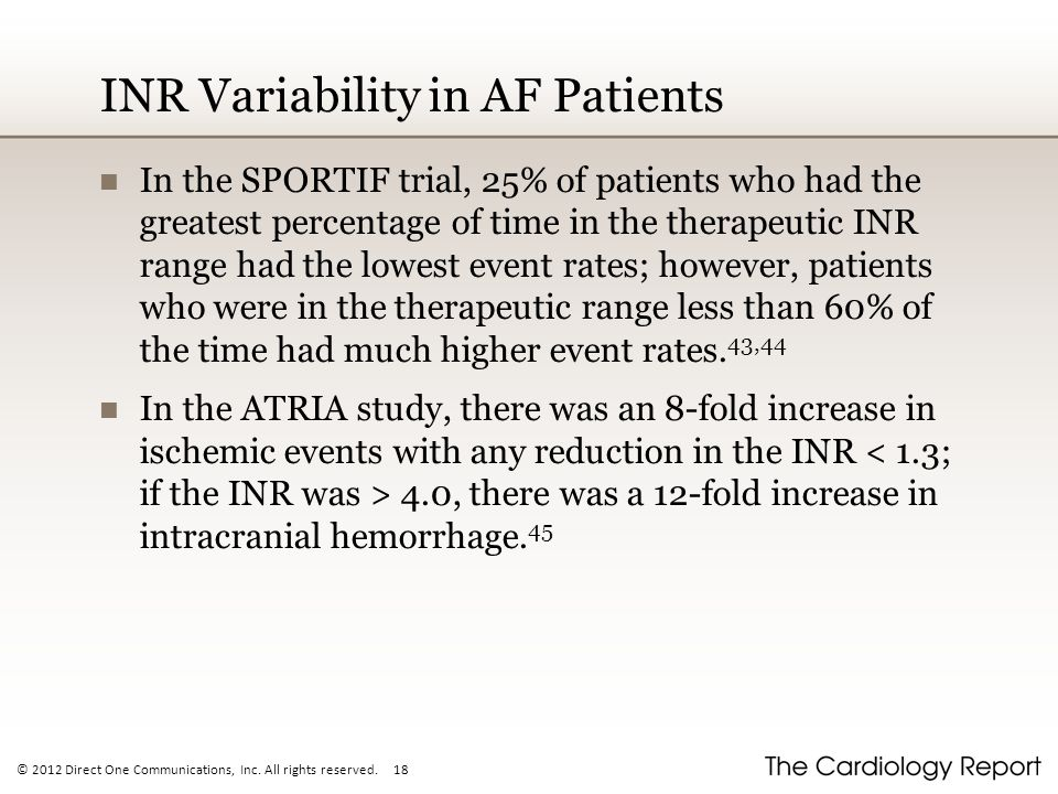 INR Variability in AF Patients
