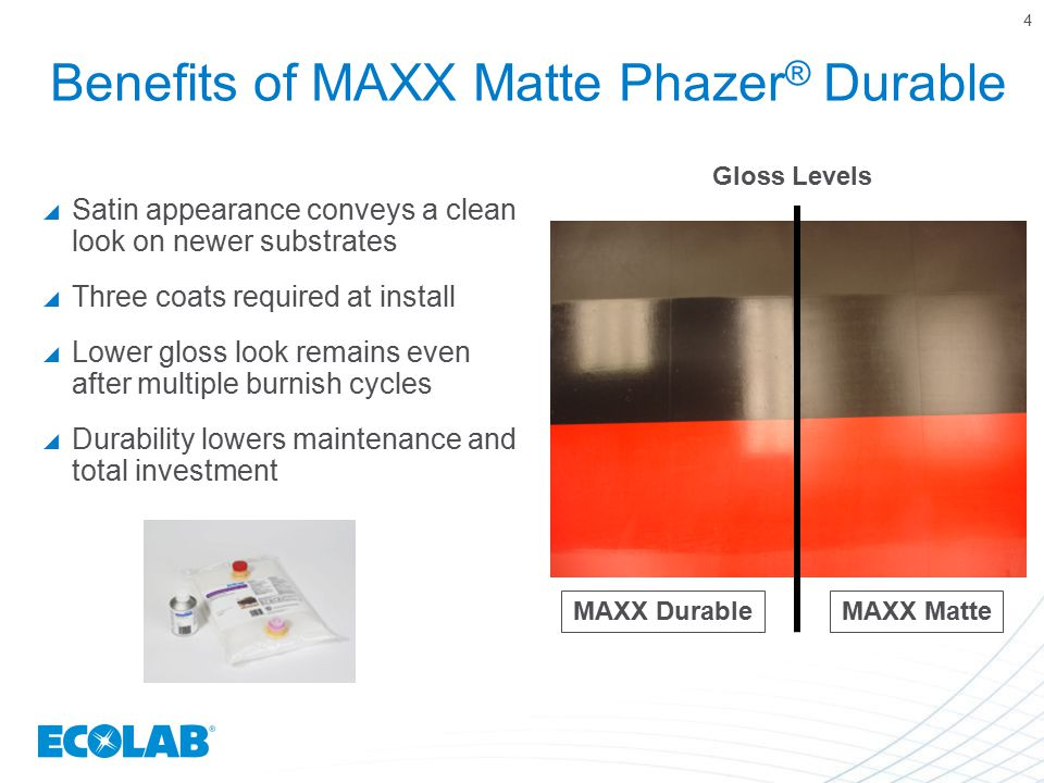 Benefits of MAXX Matte Phazer® Durable