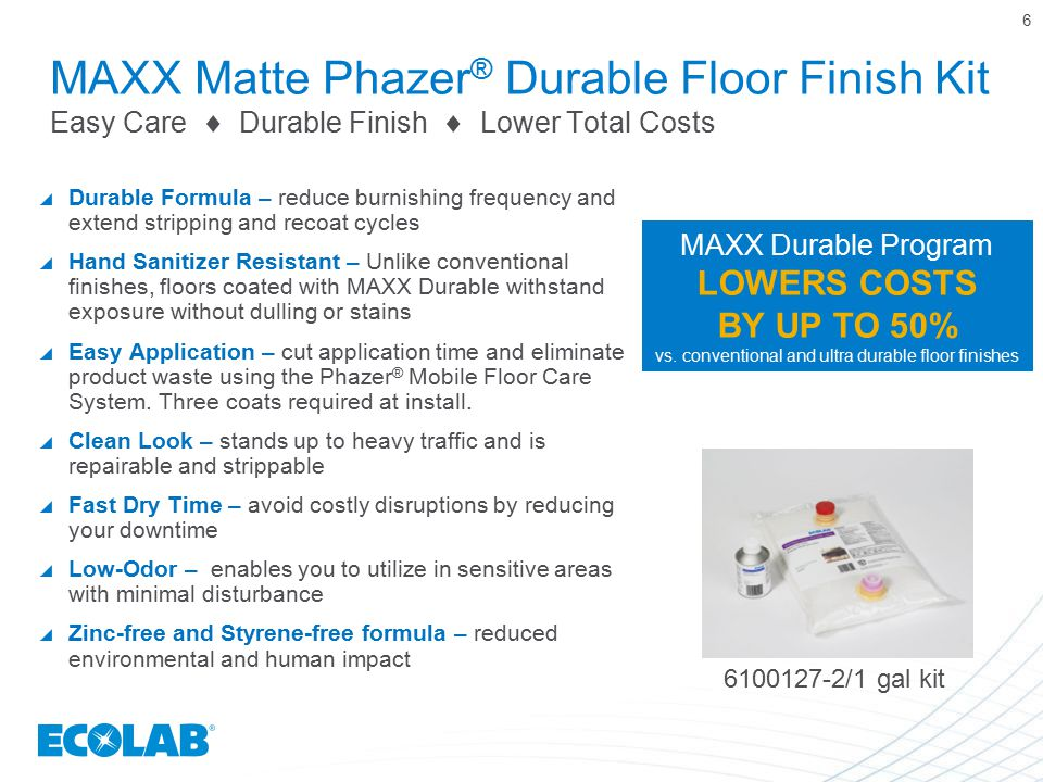 vs. conventional and ultra durable floor finishes