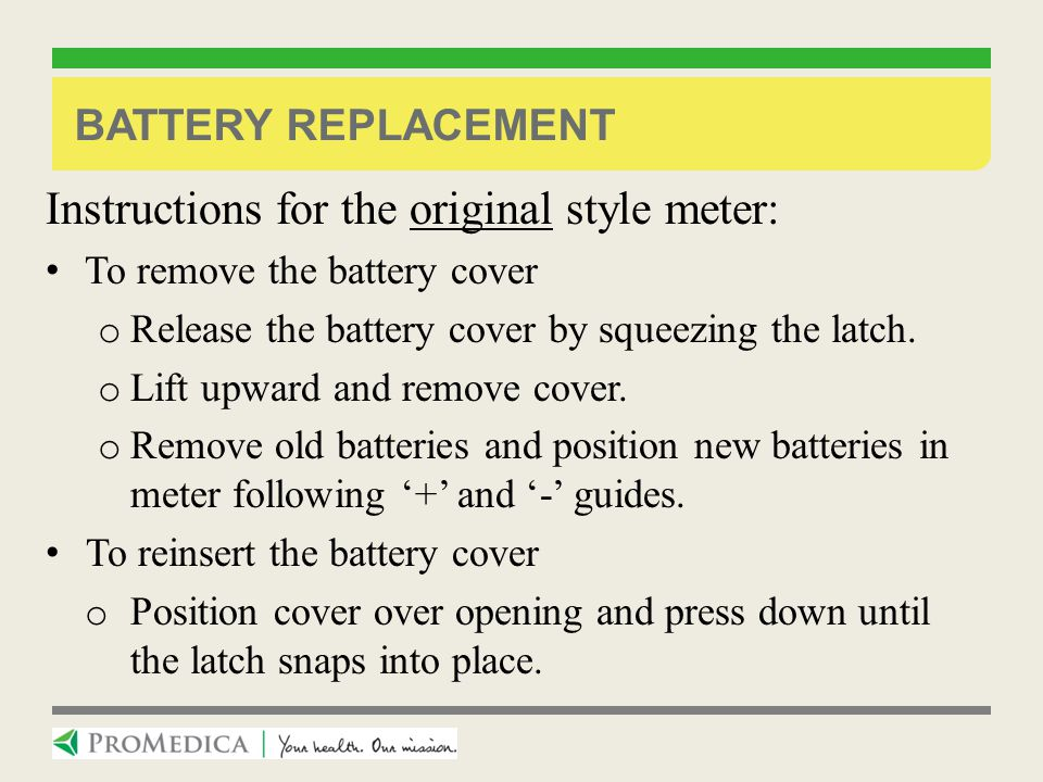 Instructions for the original style meter: