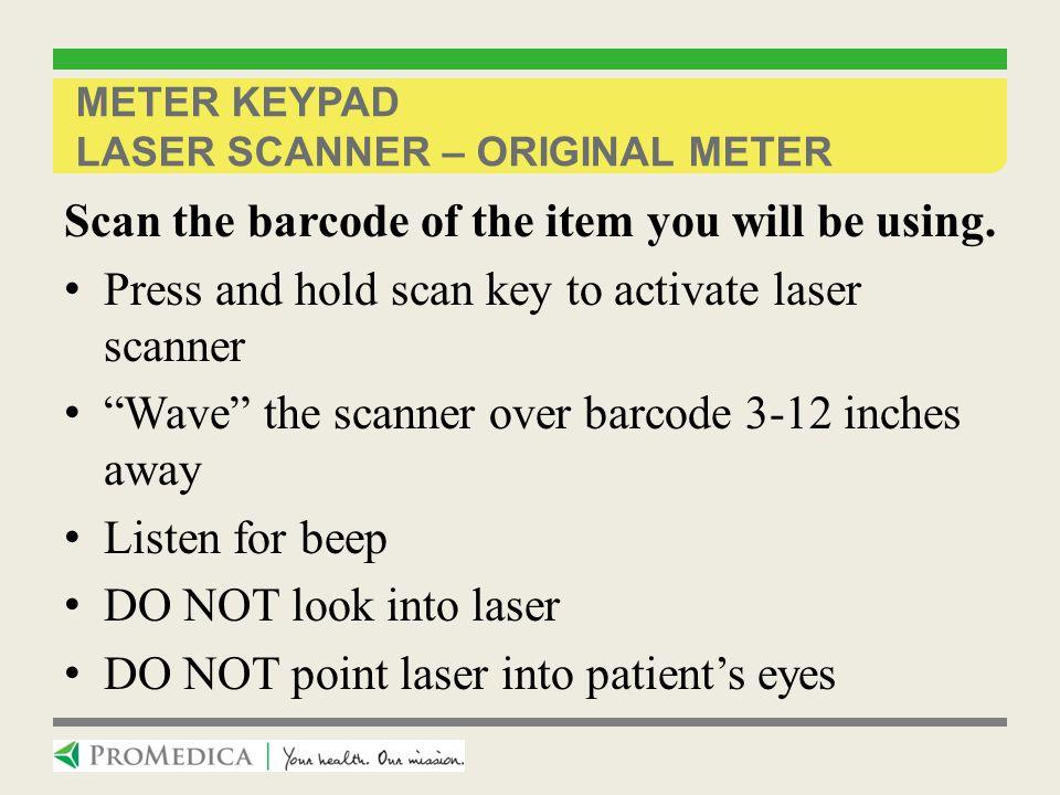 Meter Keypad laser scanner – original meter