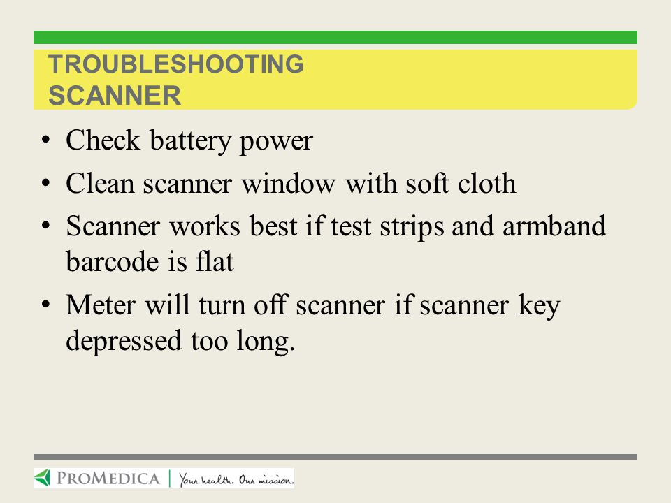 Troubleshooting Scanner