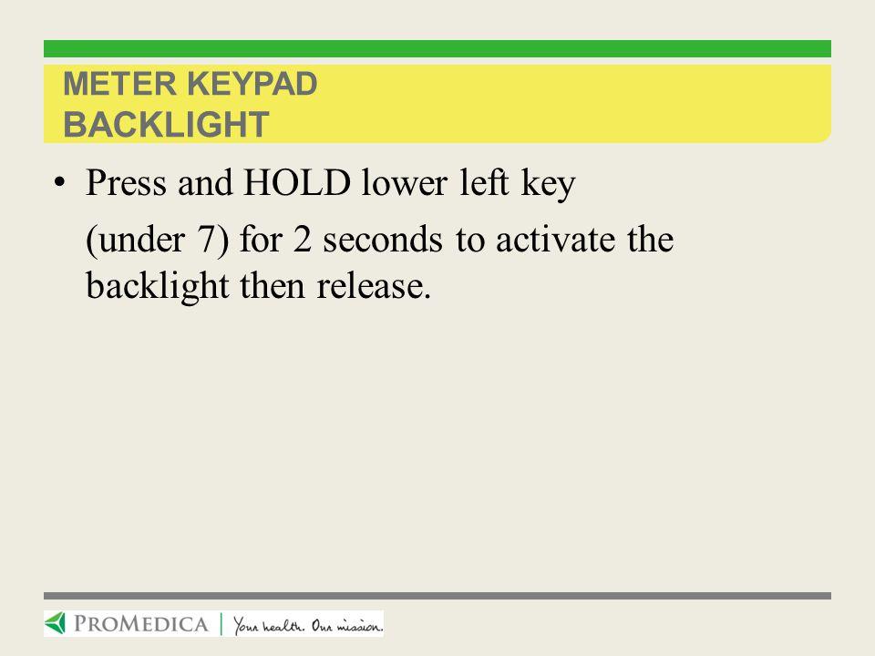 Meter Keypad Backlight