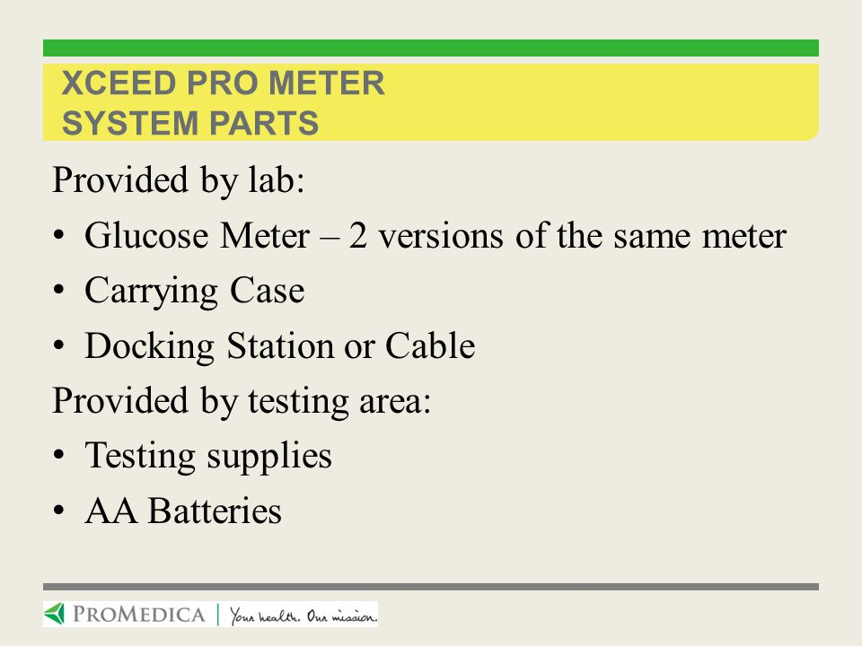 Xceed Pro Meter System parts