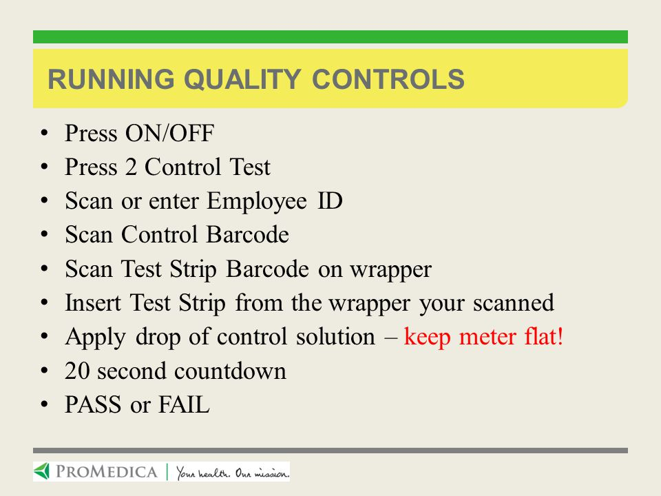 Running Quality Controls