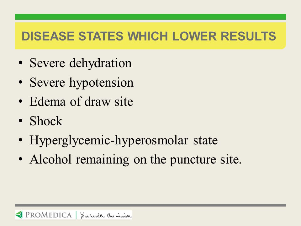 Disease States which lower results