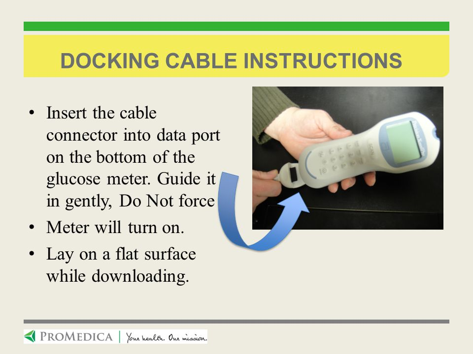 Docking cable instructions