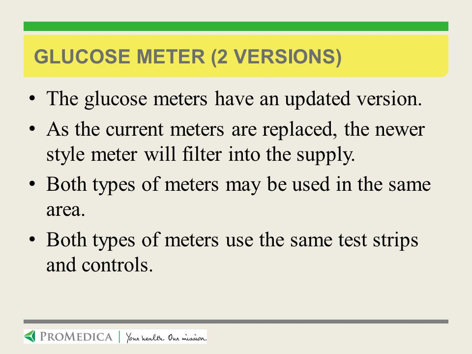 Glucose Meter (2 versions)