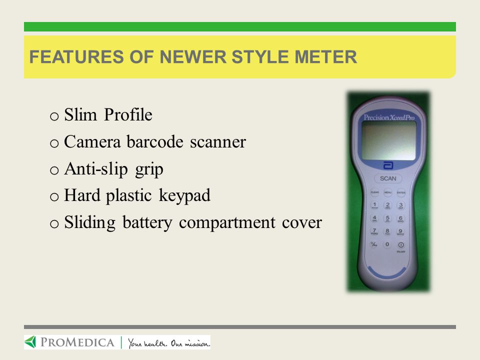 Features of newer style meter