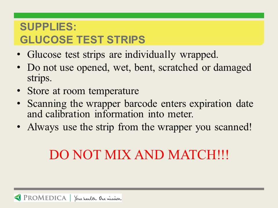 Supplies: Glucose Test Strips