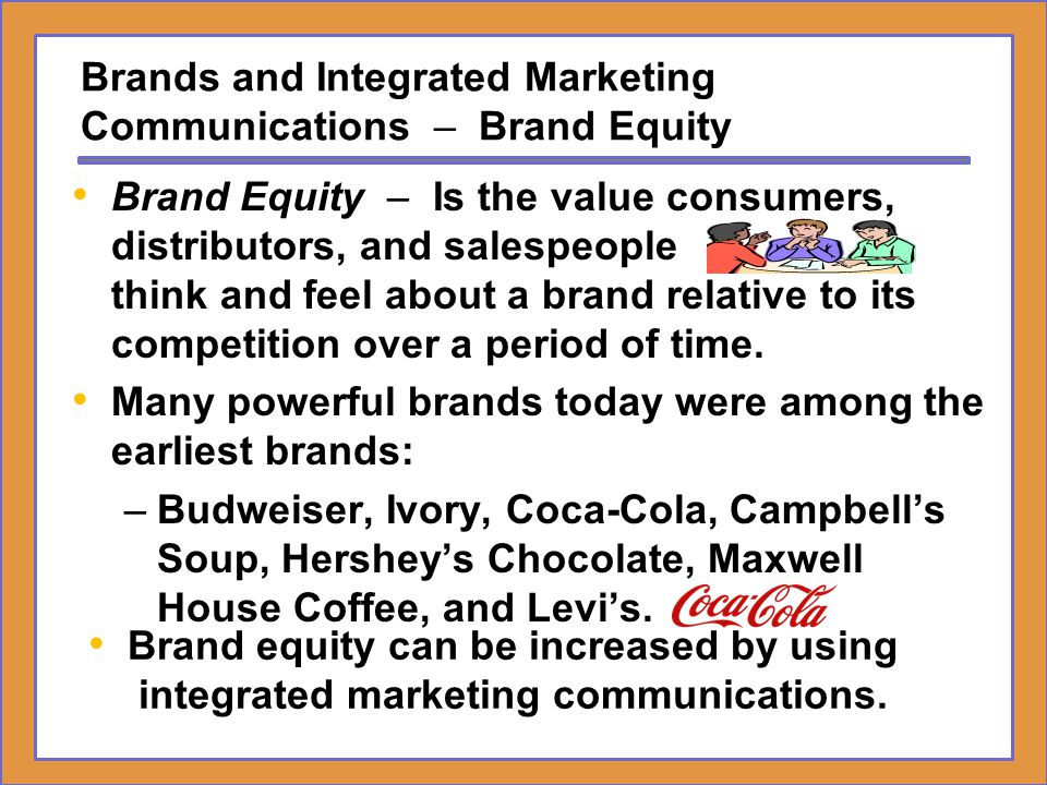 Brands and Integrated Marketing Communications – Brand Equity