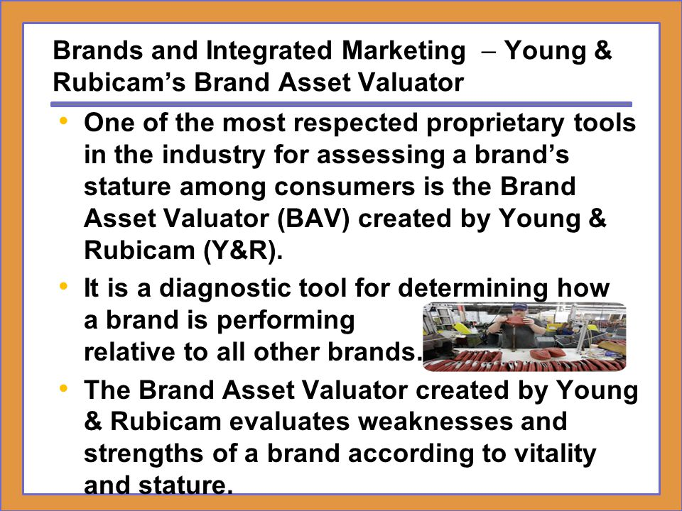 Brands and Integrated Marketing – Young & Rubicam's Brand Asset Valuator