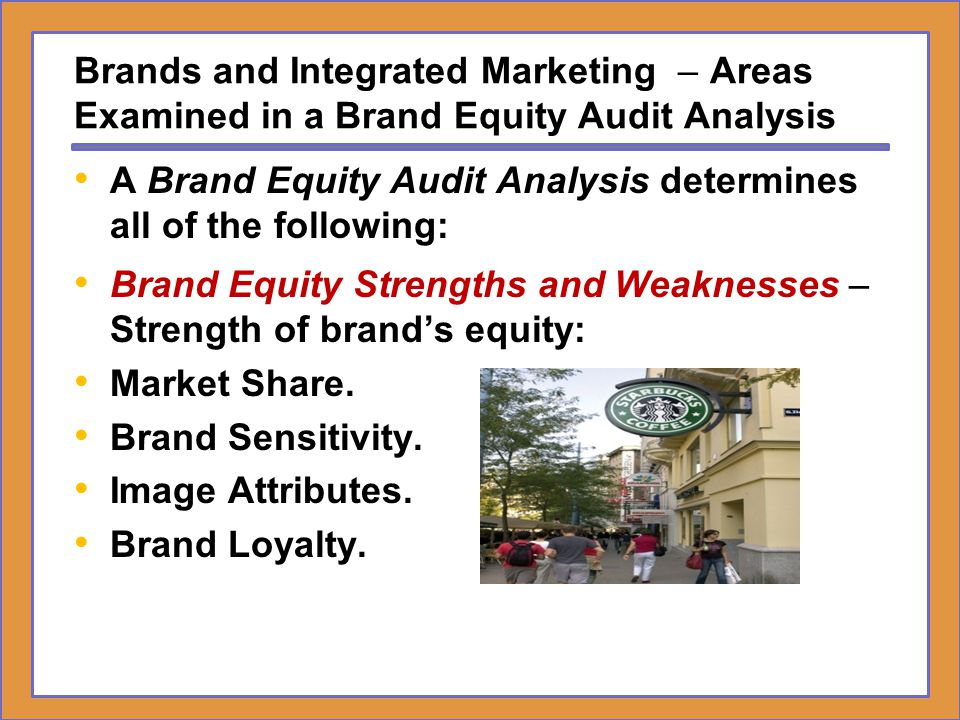 Brands and Integrated Marketing – Areas Examined in a Brand Equity Audit Analysis
