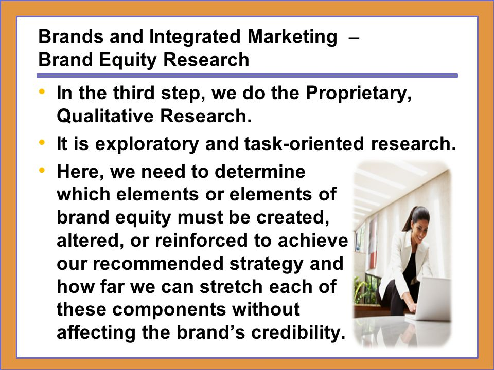 Brands and Integrated Marketing – Brand Equity Research