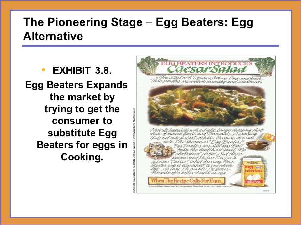 The Pioneering Stage – Egg Beaters: Egg Alternative