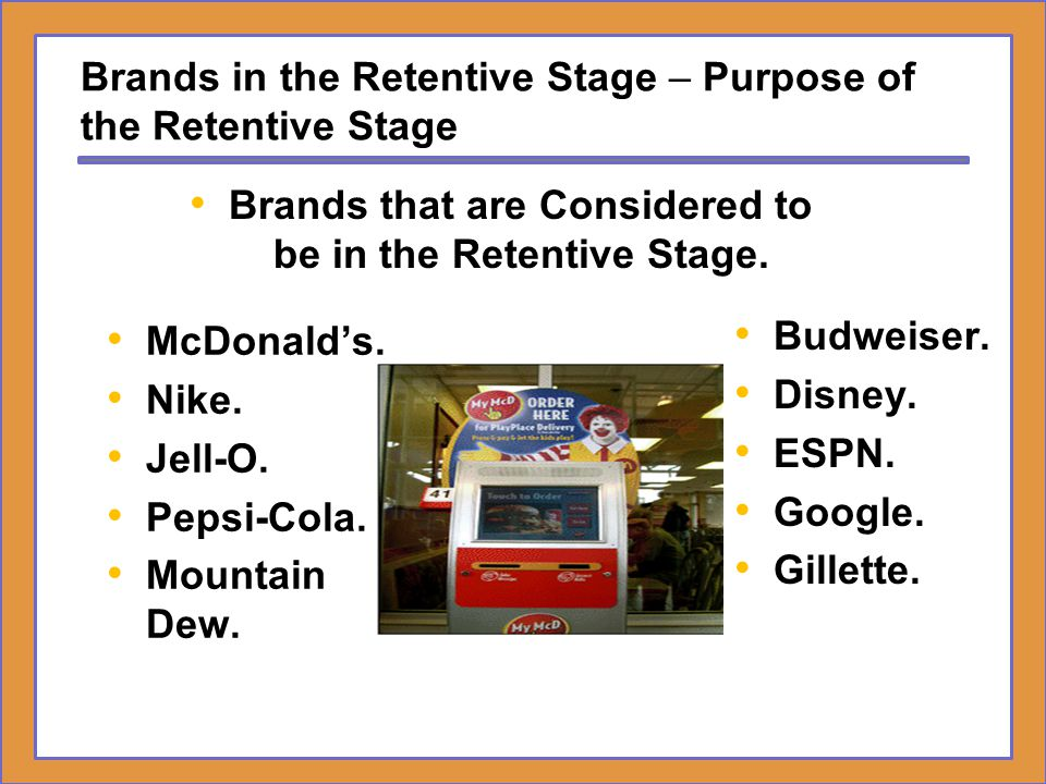 Brands in the Retentive Stage – Purpose of the Retentive Stage