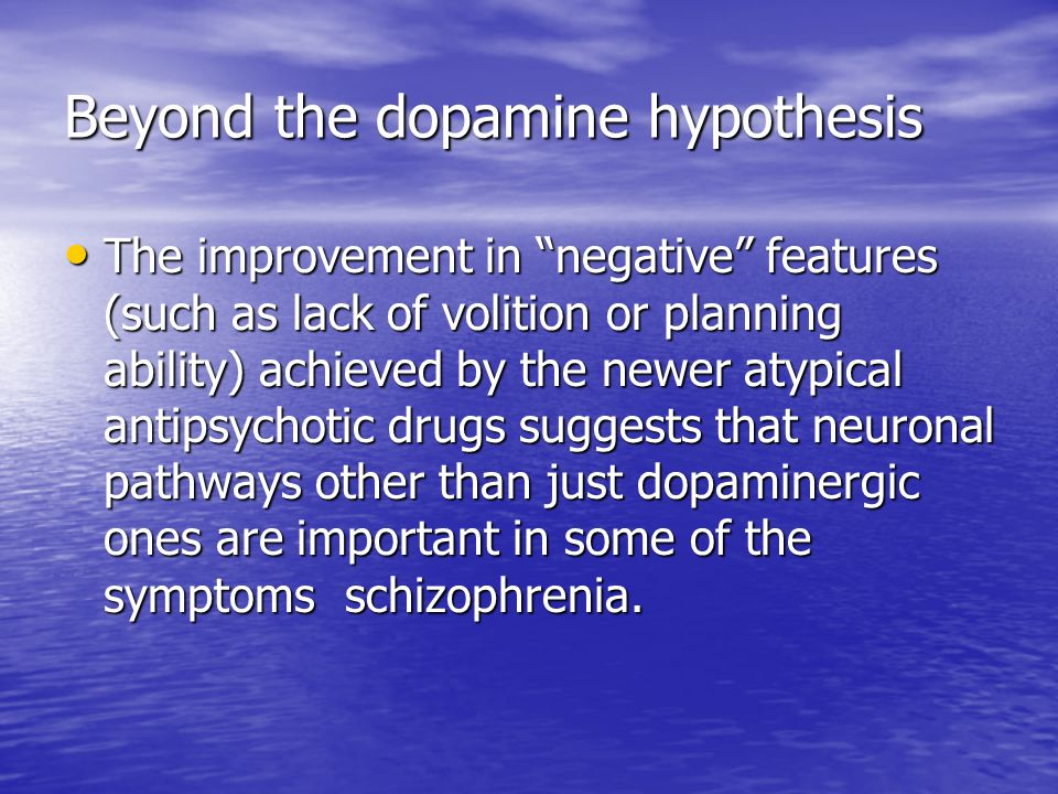 Beyond the dopamine hypothesis