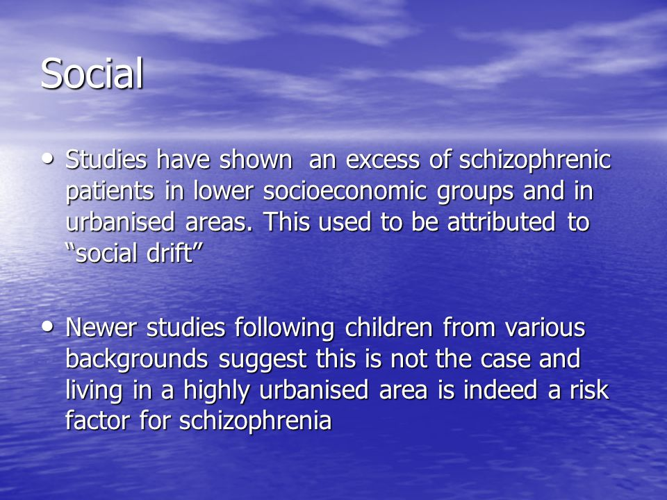 case studies on schizophrenia