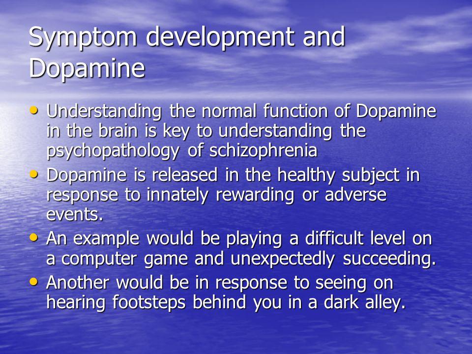 Symptom development and Dopamine
