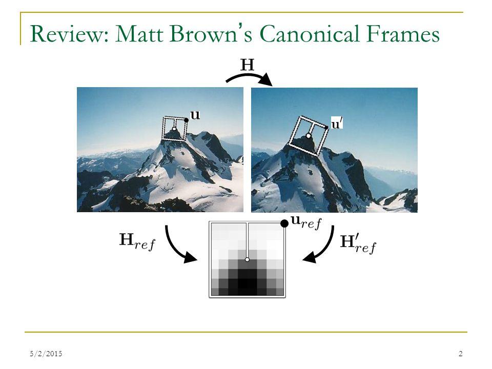 Review: Matt Brown's Canonical Frames