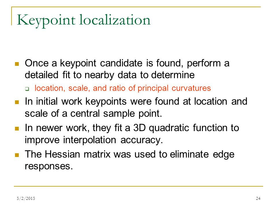 Keypoint localization