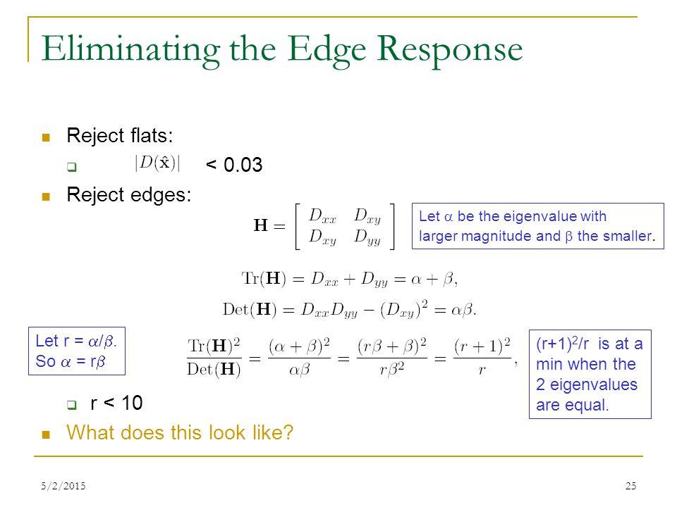 Eliminating the Edge Response