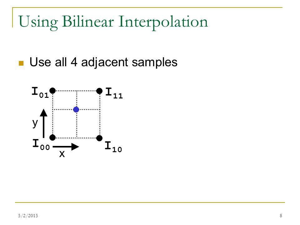 Using Bilinear Interpolation