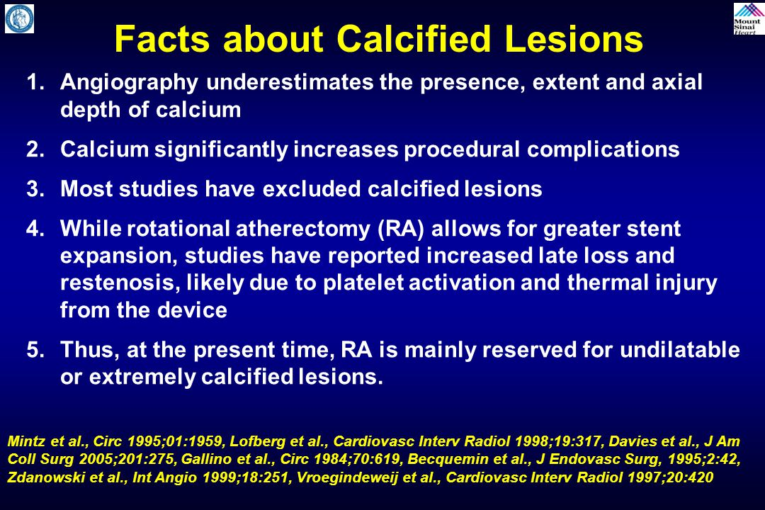 Facts about Calcified Lesions