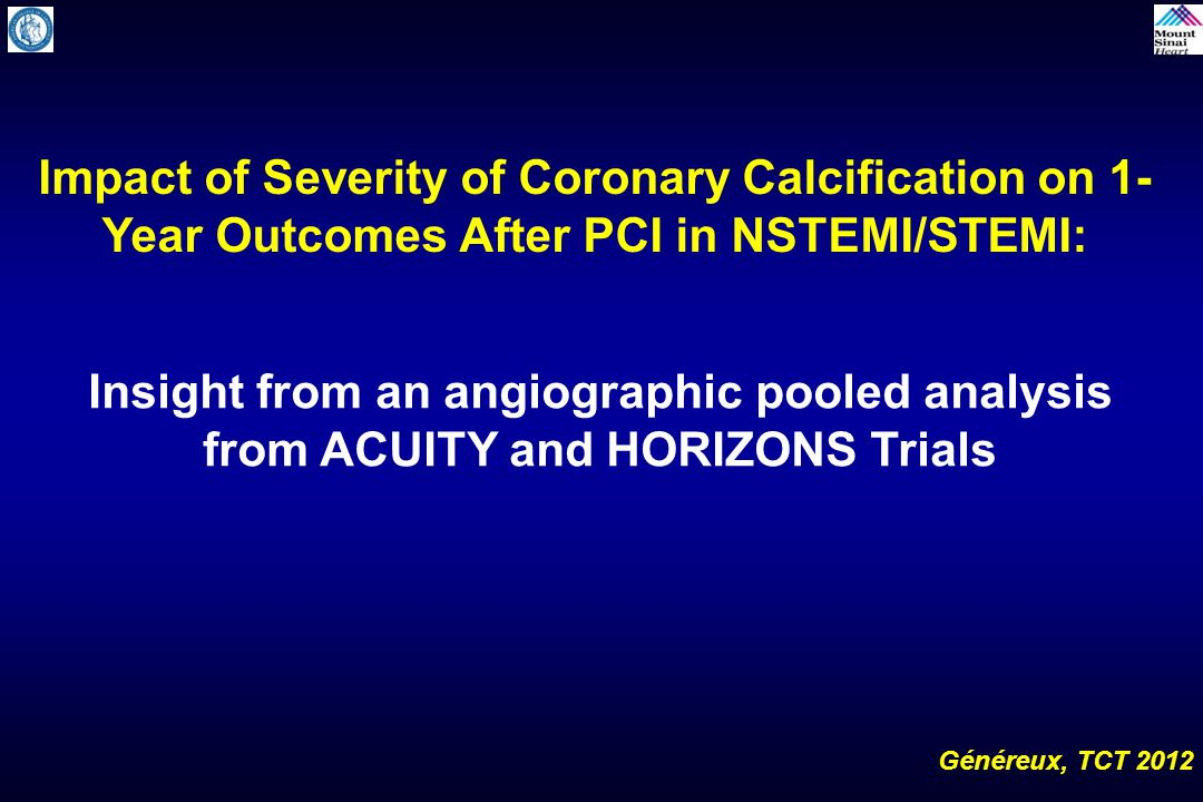 Impact of Severity of Coronary Calcification on 1-Year Outcomes After PCI in NSTEMI/STEMI: