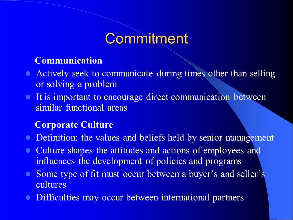 Commitment Communication