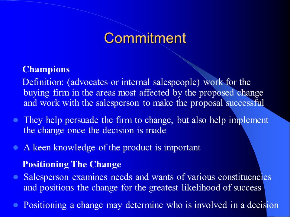 Commitment Champions.