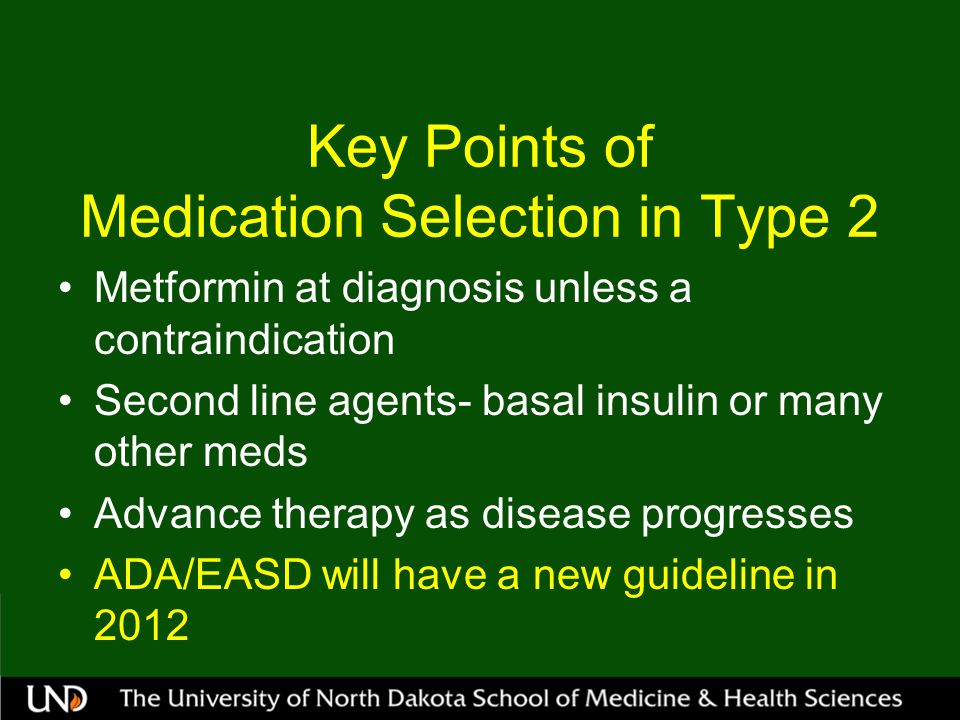 Key Points of Medication Selection in Type 2