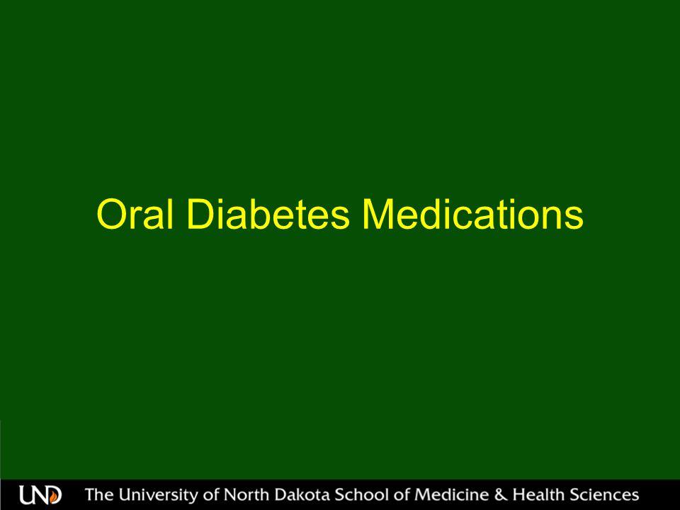 Oral Diabetes Medications