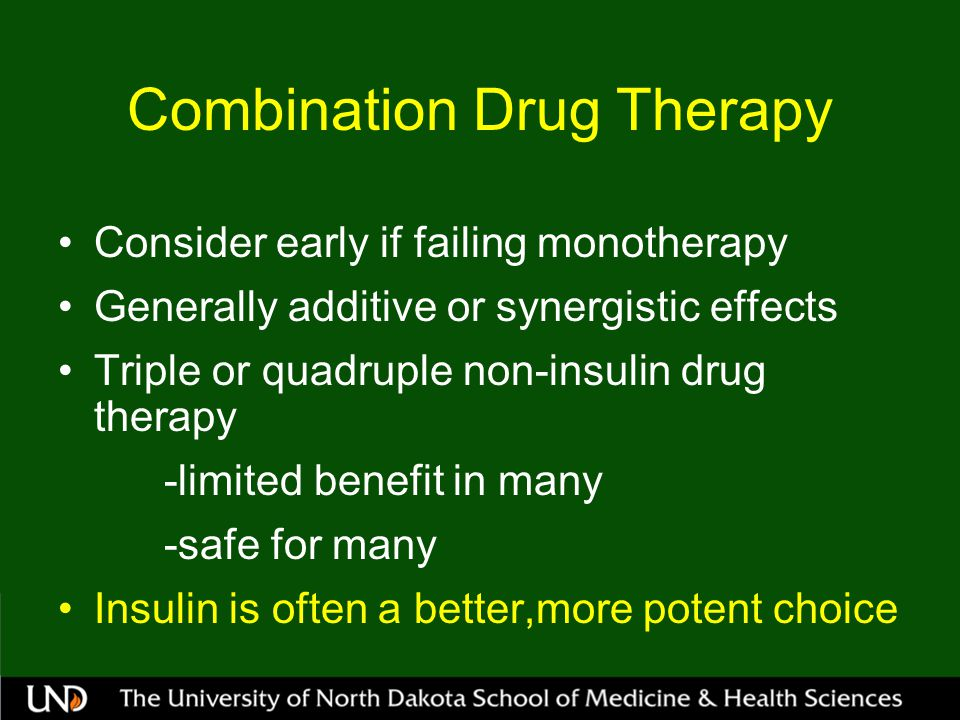 Combination Drug Therapy