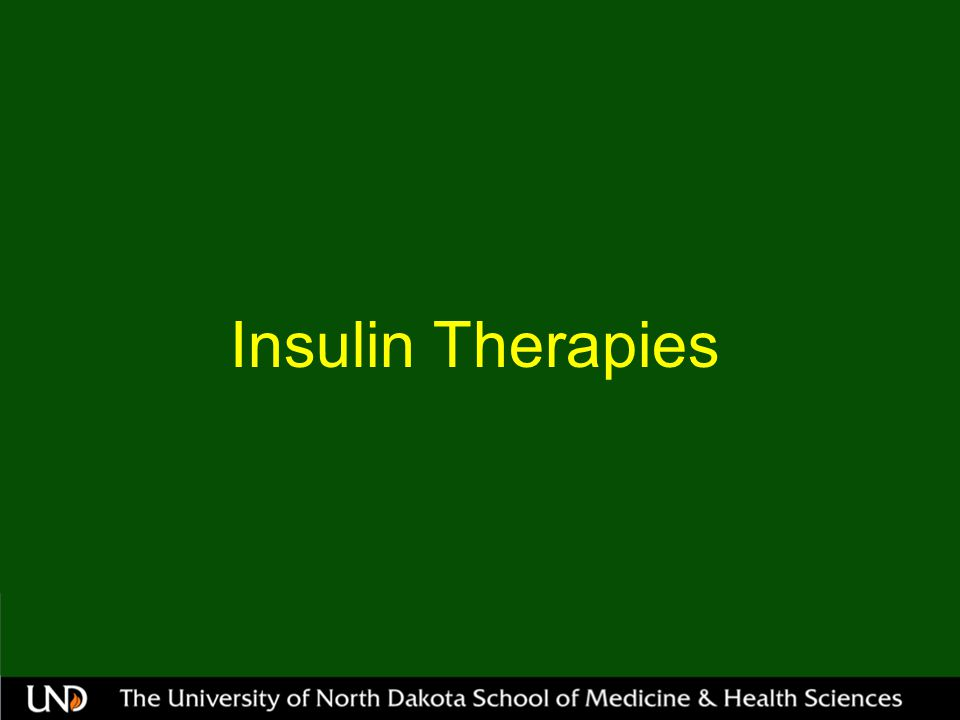 Insulin Therapies