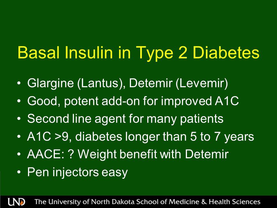 Basal Insulin in Type 2 Diabetes