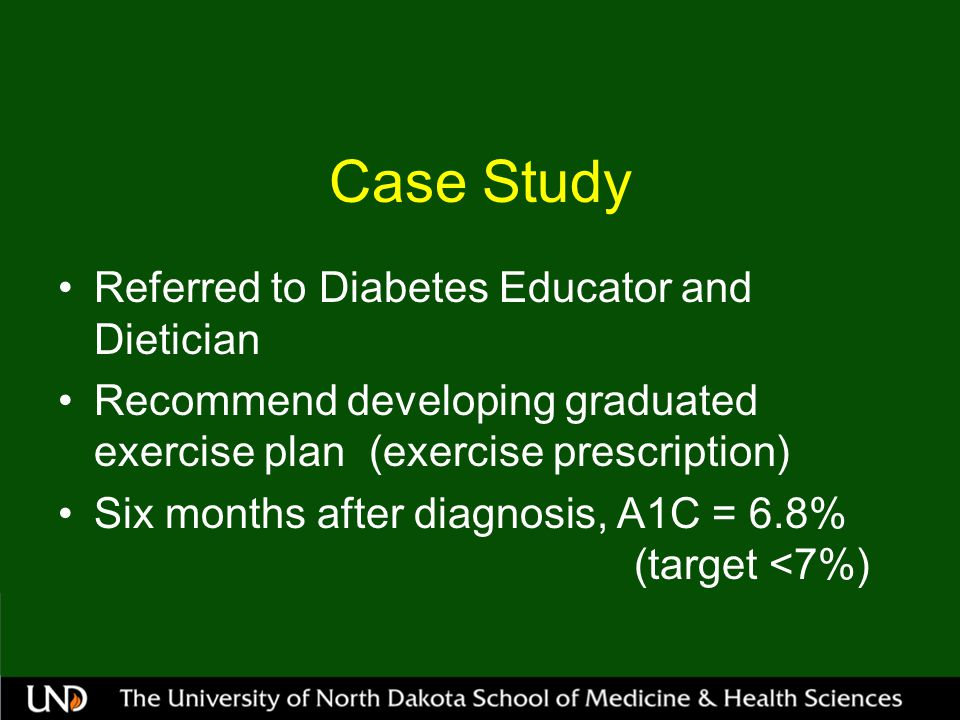 Case Study Referred to Diabetes Educator and Dietician