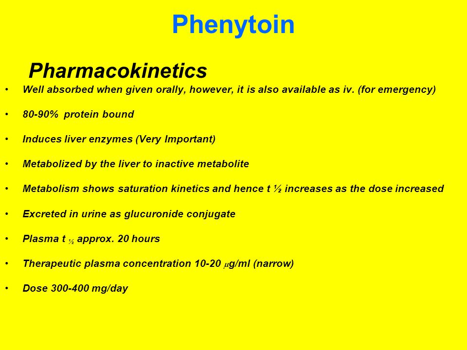 Phenytoin Pharmacokinetics